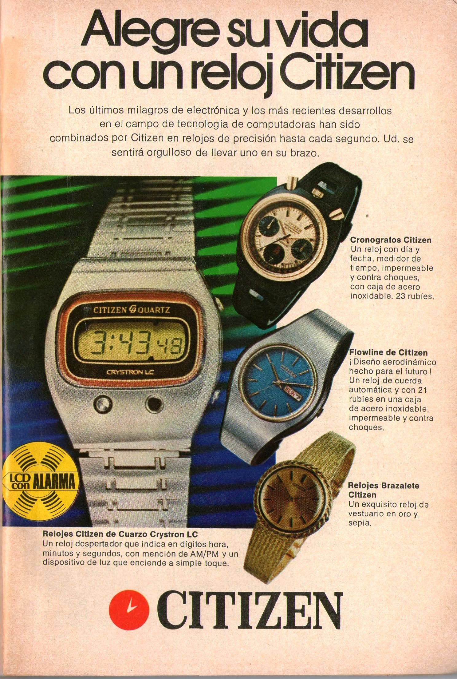 Citizen Watches. Ad from 1976. | Venezuelan Vintage Ads | Pinterest ...