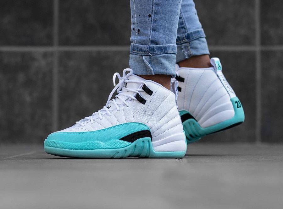 07f8392c1e9854 Air Jordan 12 Retro Light Aqua