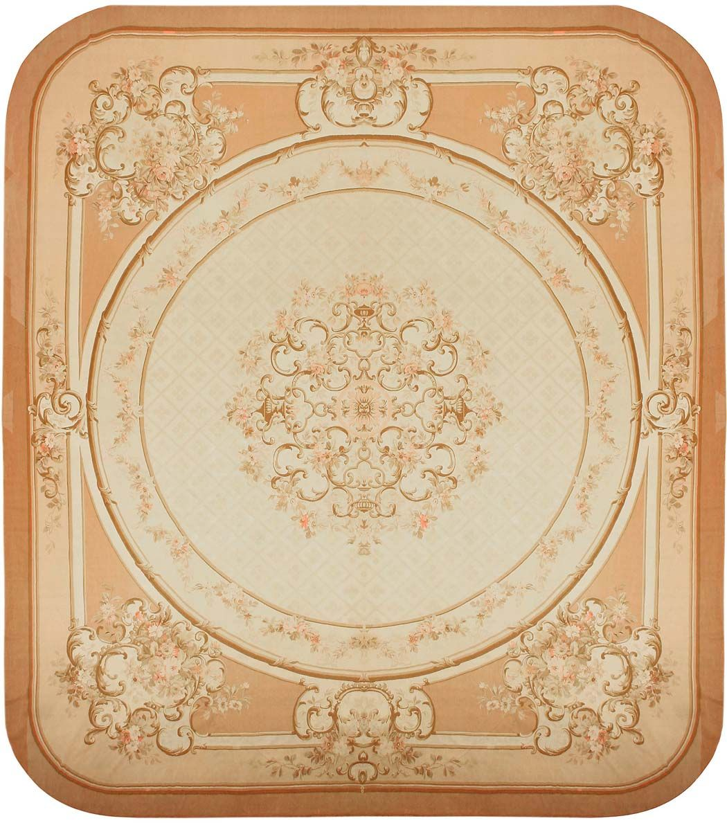 Large Aubusson Rug: Large Antique French Aubusson Square Rug 43643 In 2019