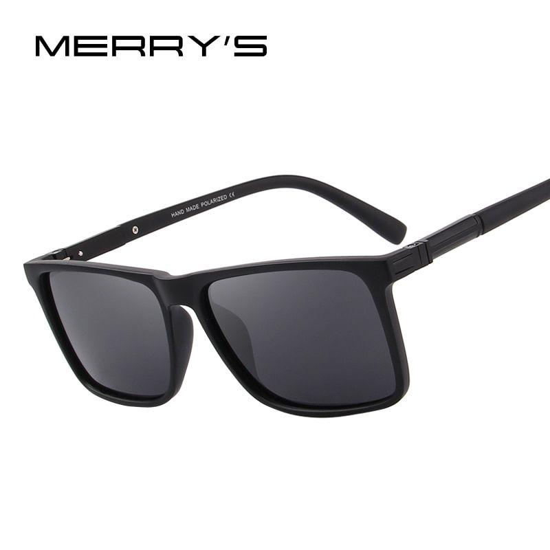 de6b98e721173 MERRY S DESIGN Men Polarized Rectangle Sunglasses 100% UV Protection S 8296  Review