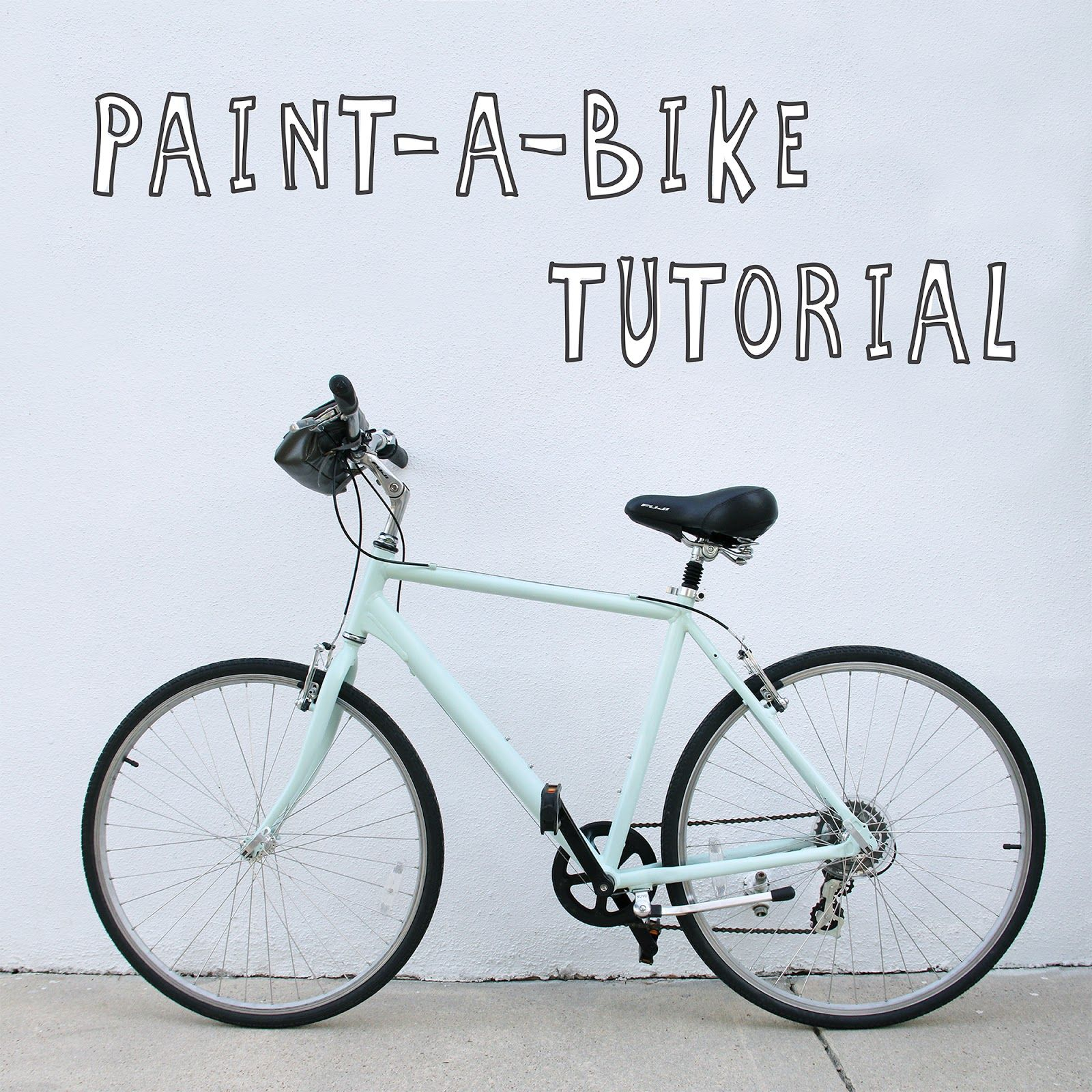 we can make anything paint a bike tutorial crafts tricks pinterest cyklar g r det. Black Bedroom Furniture Sets. Home Design Ideas
