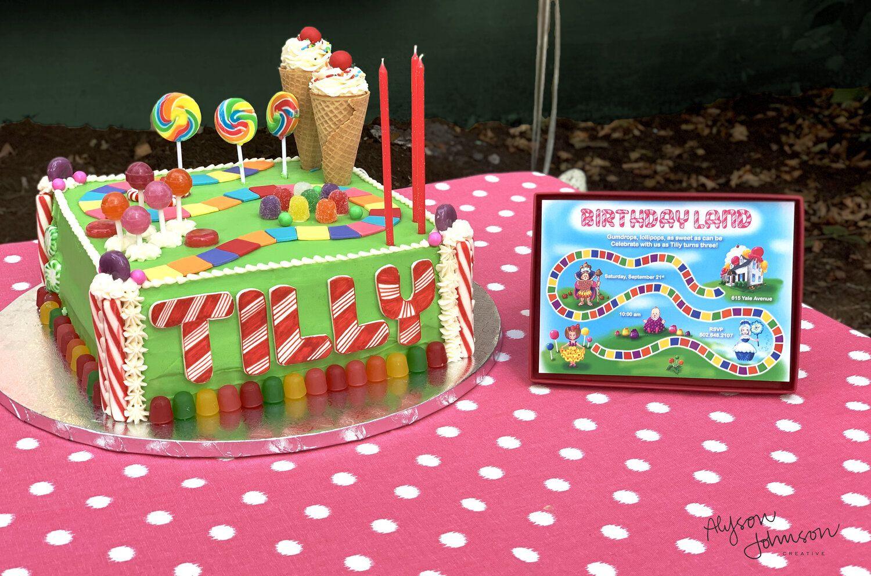 Sweet Candyland Birthday Party Invitation Birthday party