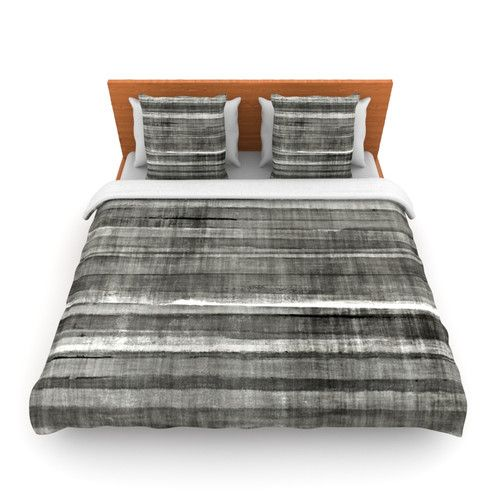 Found it at Wayfair - Gray Accent by CarolLynn Tice Woven Duvet Cover