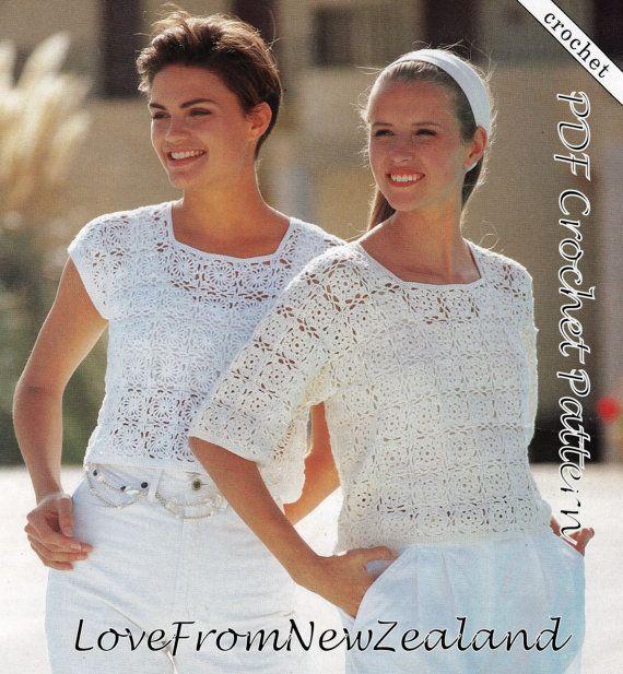 PDF Crochet Pattern / Women\'s Crochet Cotton by LoveFromNewZealand ...