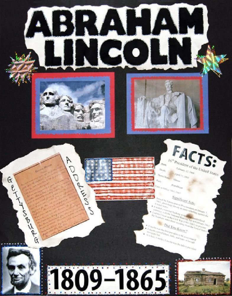 Make A Poster About Abraham Lincoln Facts Presidents Poster