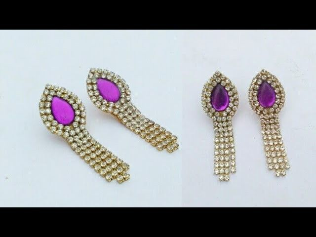 Simple And Easy Earrings In 5 Minutes How To Make Designer Hangings