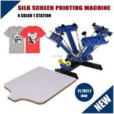 4b5722c0 DIY 4 Color 1 Station Silk Screen Printing Machine Press Equipment T-Shirt