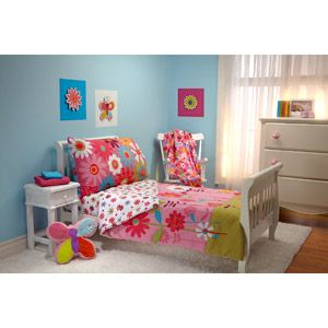 Garanimals Wild Flower 4Piece Toddler Bedding Set Such cute bedding