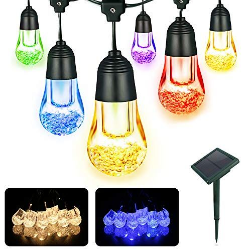LED solaire boule lumineuse solaire boule blanc chaud//Capteur de lumière LED Balle Boule Lampe
