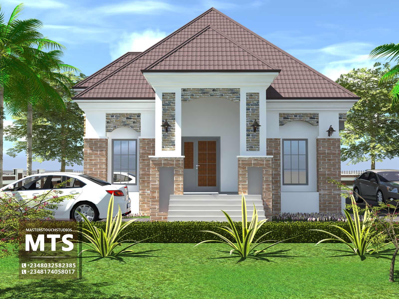 4 Bedroom Bungalow Rf 4010 Modern Bungalow House House Styles House Architecture Design
