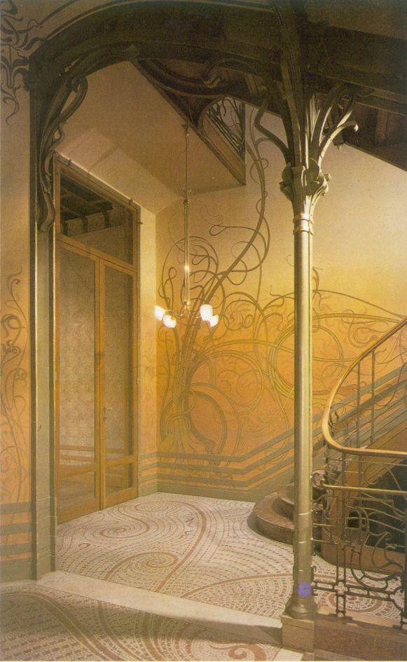 Wictor Horta – Maison Tassel (klatka schodowa)