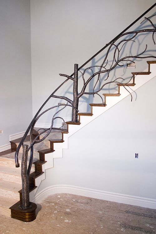Unique Wrought Iron Banister Ideas Inspired By Nature Stairs