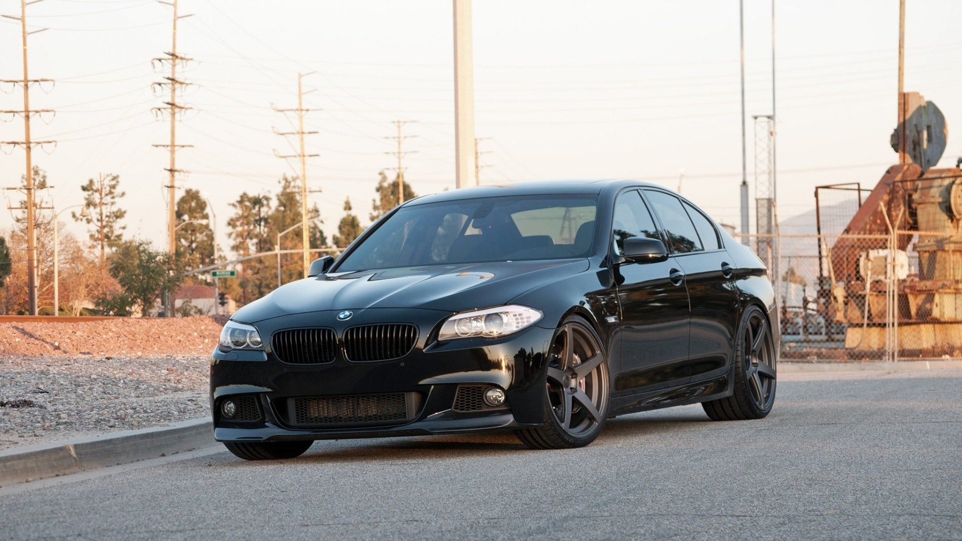 Bmw 535i M5 Power Black Street Custom Rims With Images Bmw