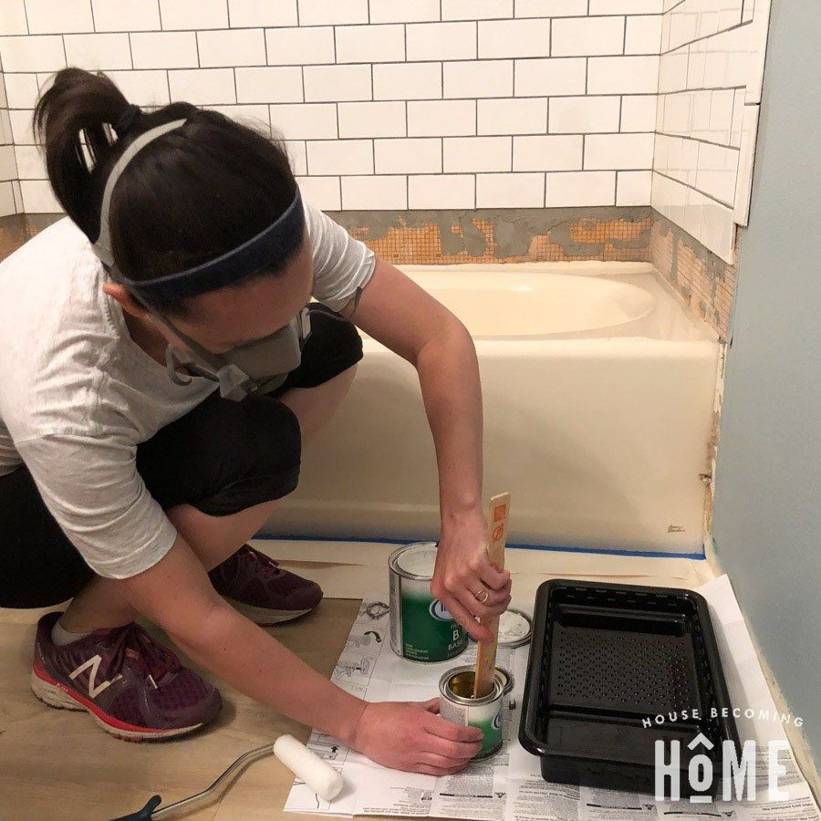 How To Paint A Bathtub Rustoleum Tub And Tile House Becoming Home Tub And Tile Paint Rustoleum Refinishing Kit