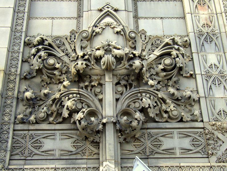 Fine Artwork On The Louis Sullivan Building in Newark