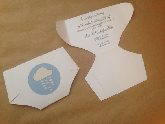 DIY Diaper Invitation Templates with Instructions Make your own