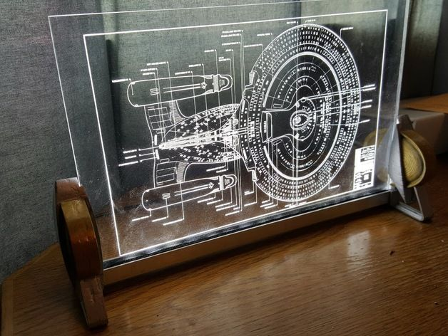 Star Trek Stand To Hold 1 4 Acrylic In A 1 2 Aluminum C Channel Extrusion Print 2 Of Each F Laser Engraved Acrylic Laser Cutter Projects Laser Cutter Ideas