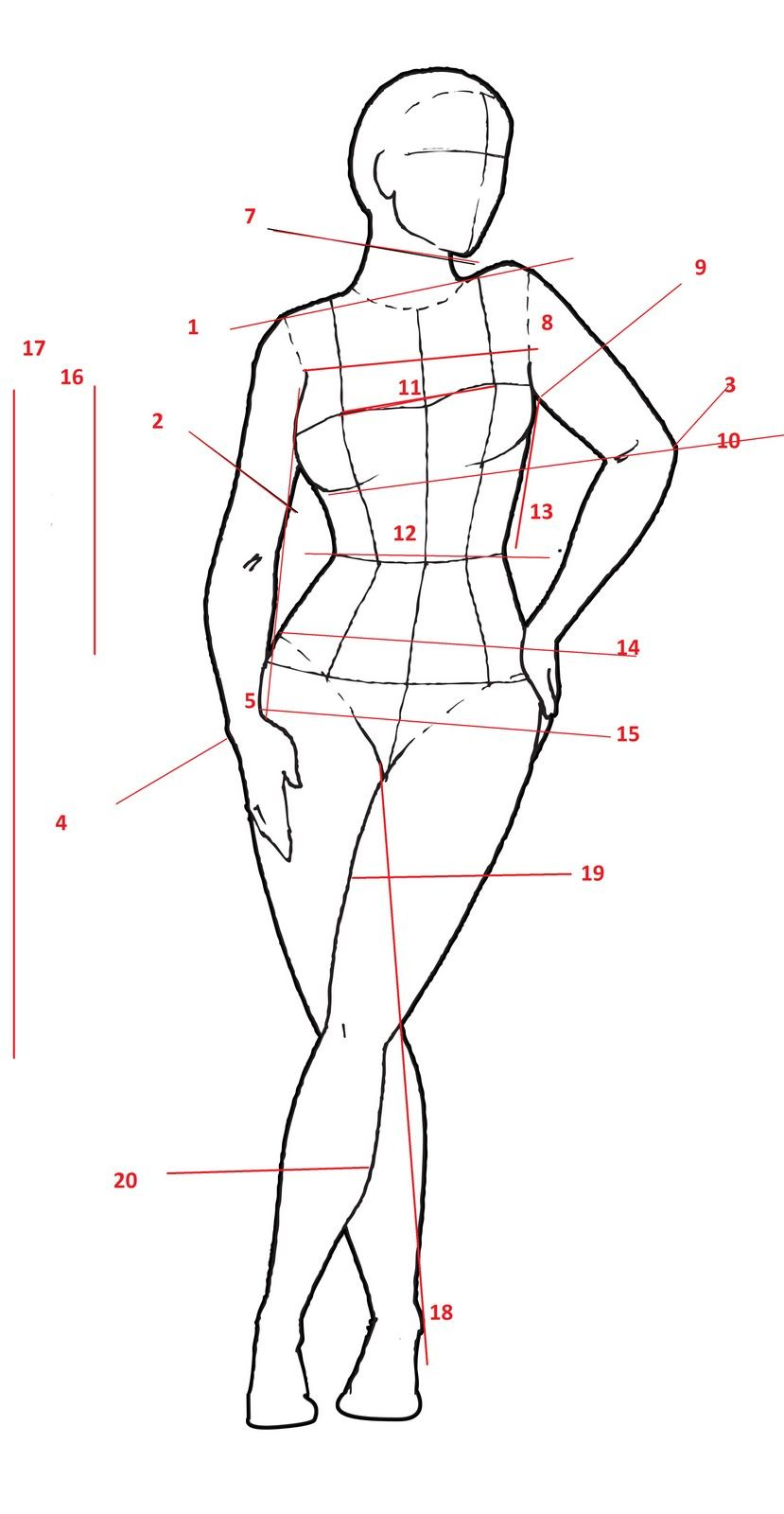 croquis template normal - Google Search | models ...