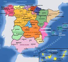 Espagne carte des villes
