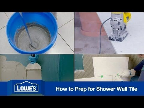 Before Tiling A Shower Wall Make Sure You Prep The Area In This Video Lowe S Walks You Through The Necess Shower Wall Tile Shower Wall Bathroom Shower Walls