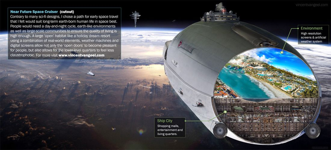 Near Future Space Cruiser Concept - | Spacecrafts in 2019 ...