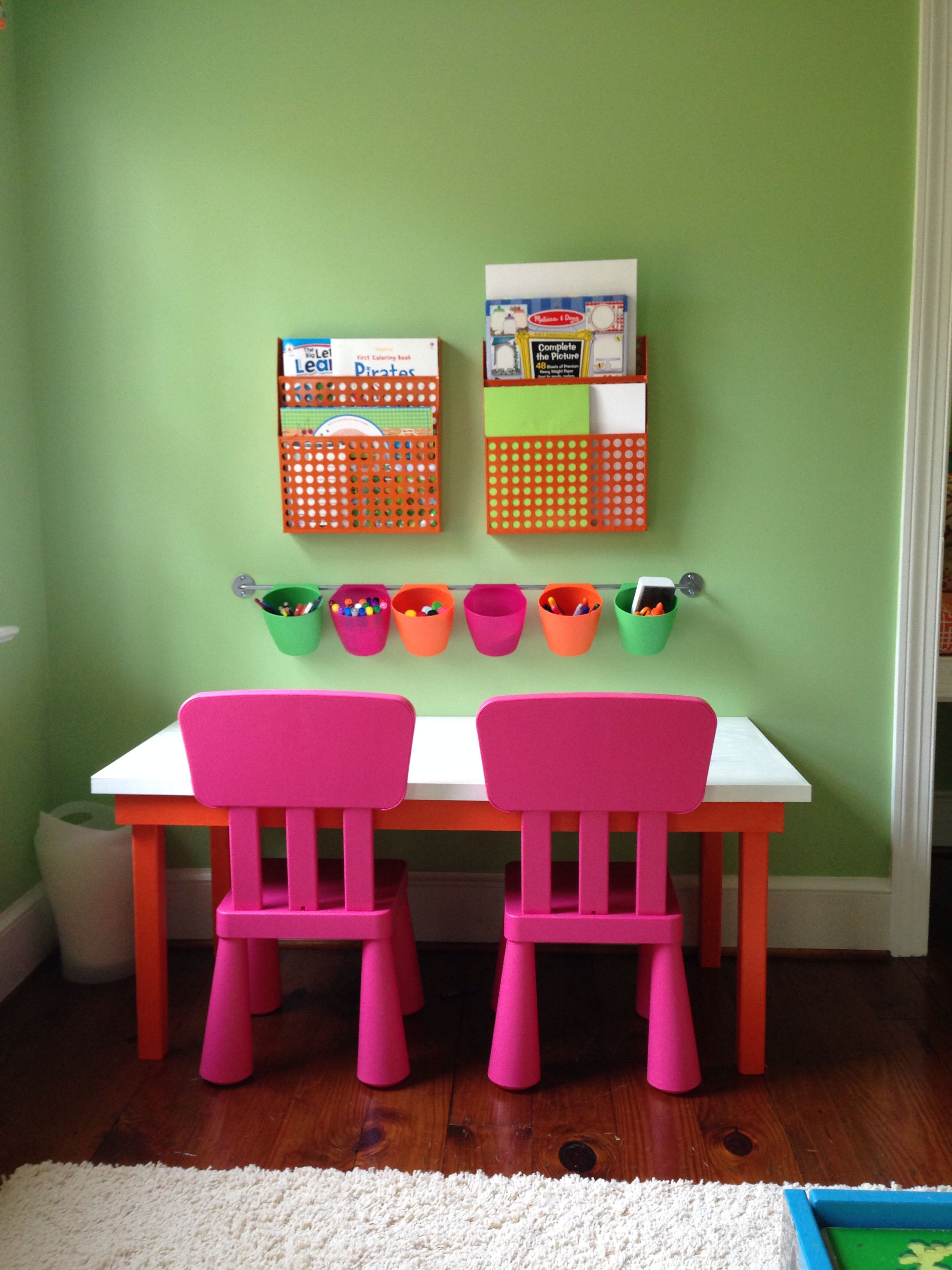 Wall Racks From The Container Store, Chairs And Bygel Wall Hanger From Ikea