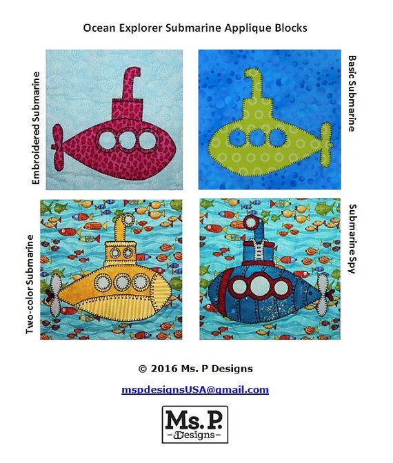 Submarine PDF applique patternunderwater vehicle by