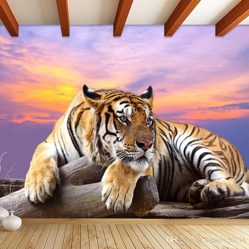 Best Custom Photo Wallpaper Tiger Animal Wallpapers 3D Large 400 x 300