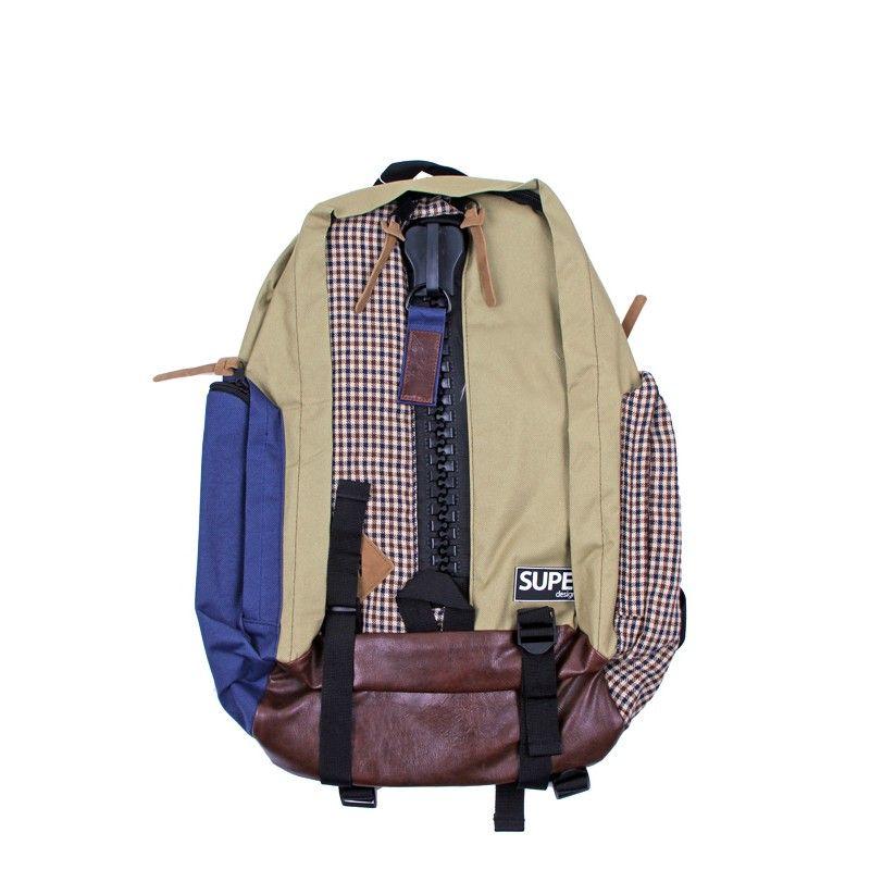 DRESS●ON SUPE DESIGN Beige Check Backpack | Biba's Boutique