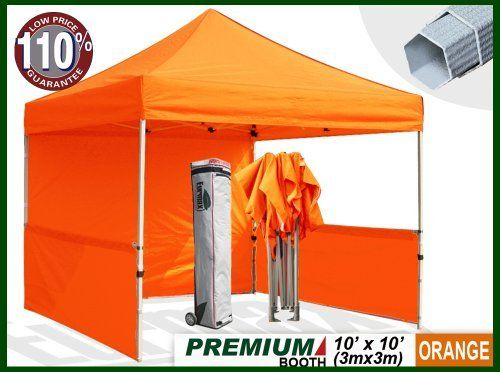 Eurmax Premium Ez Up Canopy Booth Bonus Awning And 4weight Bag 10x10 Feet Orange By Eurmax 449 95 Frame Heavy Duty Alum Canopy Frame Canopy Instant Canopy