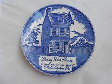 "Betsy Ross House Birthplace of ""Old Golry"" Philadelphia Pa. Souvenir Plate"