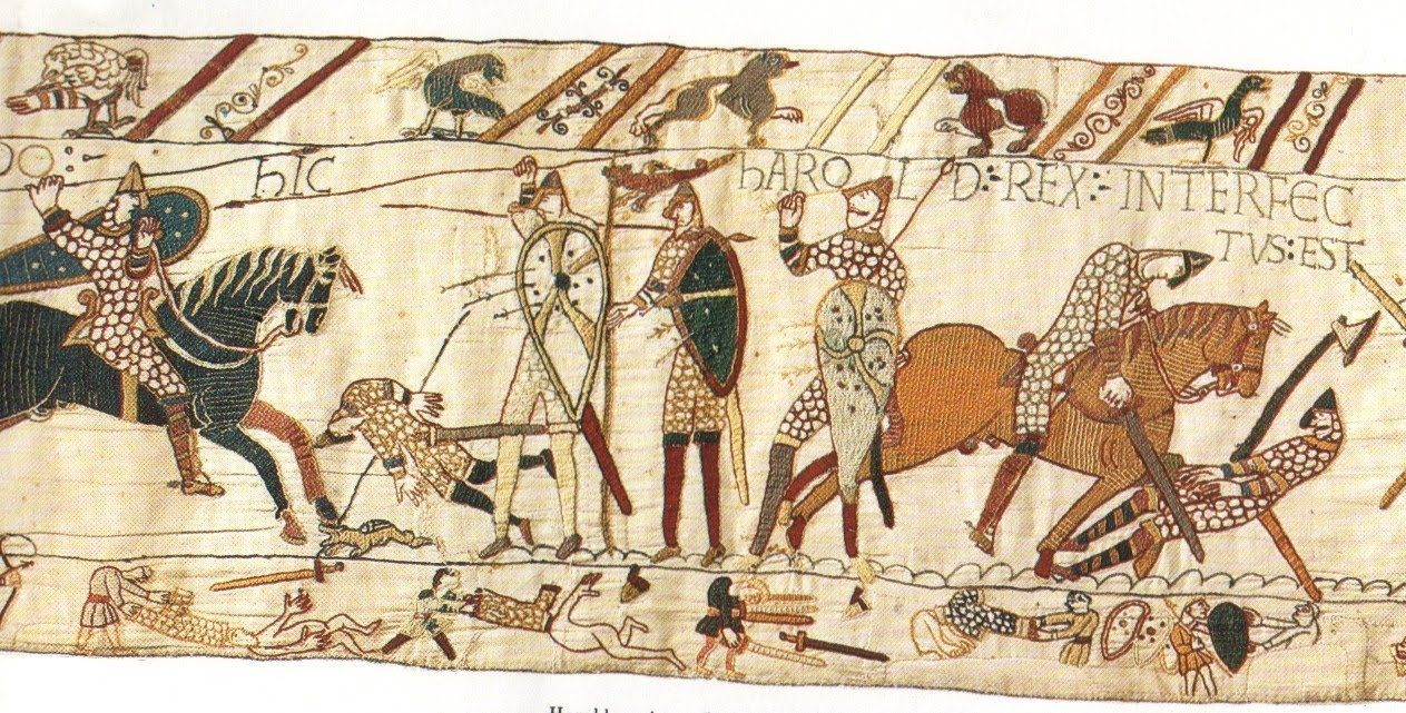 A Guide To The The Bayeux Tapestry Medievalists Net Tapisserie De Bayeux Tapisserie L Art De La Guerre