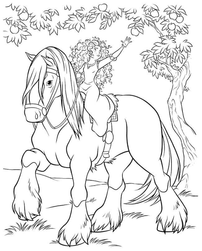 Brave Coloring Pages Best Coloring Pages For Kids Horse Coloring Pages Princess Coloring Pages Disney Princess Coloring Pages