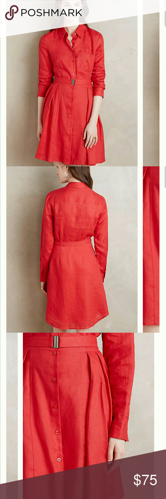 6c9ae83d32 Laila Linen Shirtdress by HD in Paris NWOT
