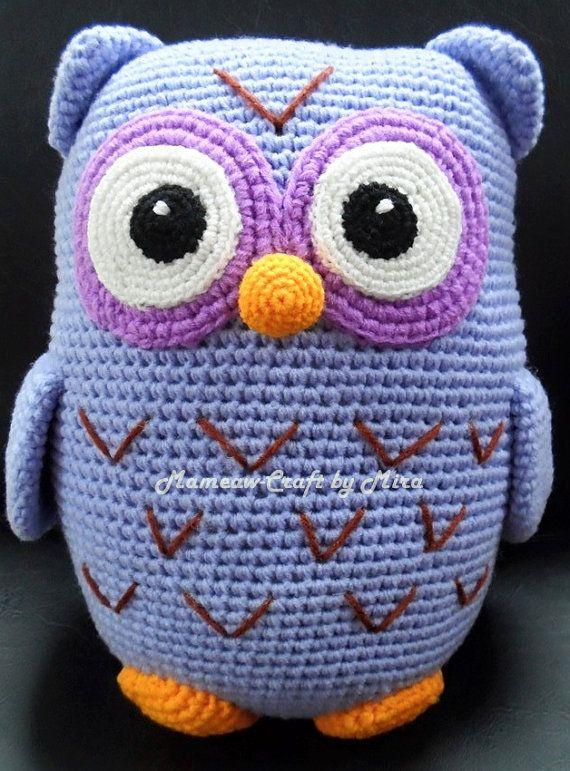 Owl  Amigurumi Crochet Pattern / PDF e-Book by Mameawcraft on Etsy