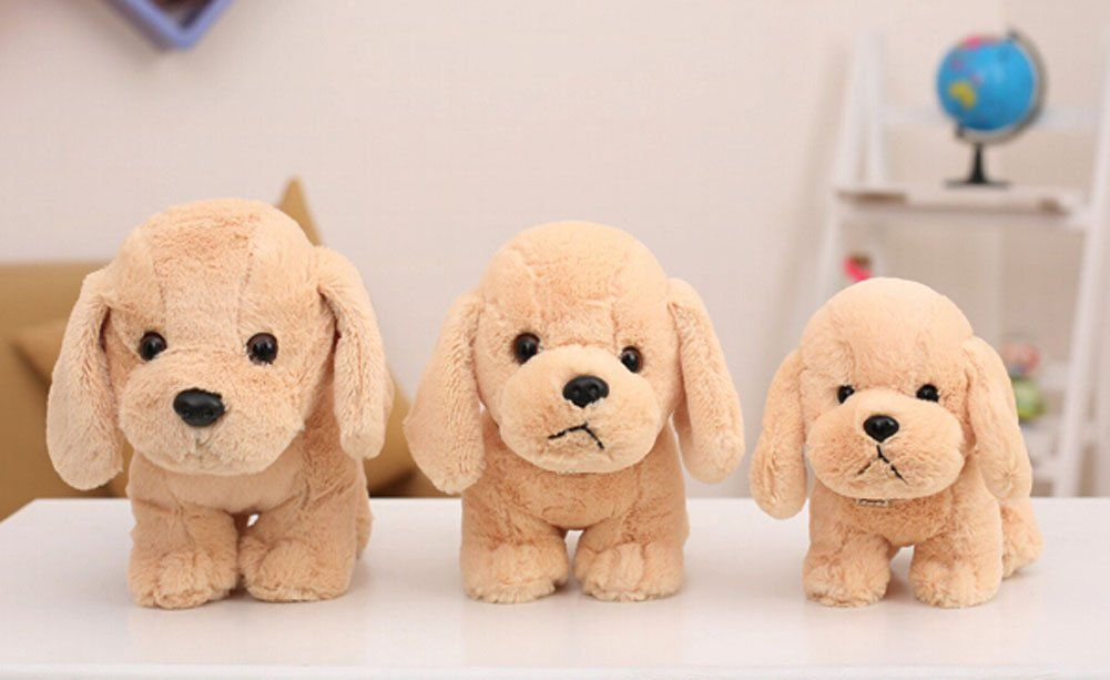 Cute Dog Plush Puppy Animal Toy Stuffed Animals Plush Toy Beige