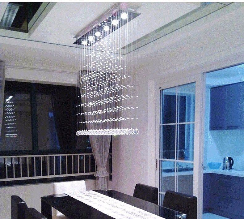 Modern Spot Light Dining Room LED Crystal Flush Mount Chandelier Lighting