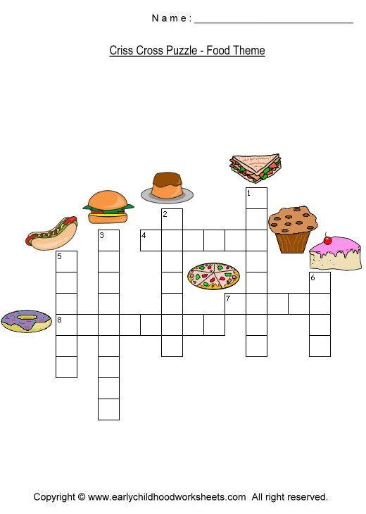 Free Preschool Crossword Worksheets Free Preschool, Printable Crossword  Puzzles, Dots And Boxes