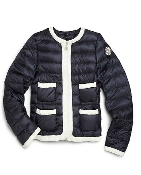 0820d8fcd314 Moncler Chanel Style Puffer Jacket for Girls   Petites