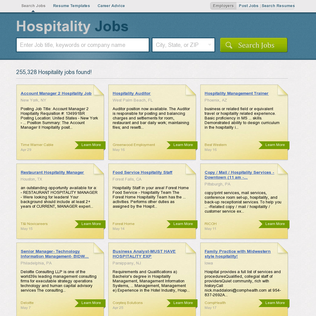 Hospitality Jobs - Click image to find more job in your area.