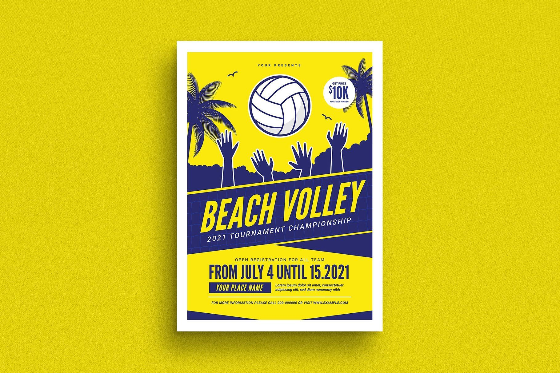 Beach Volleyball Tournament Flyer Volleyball Tournaments Volleyball Designs Volleyball