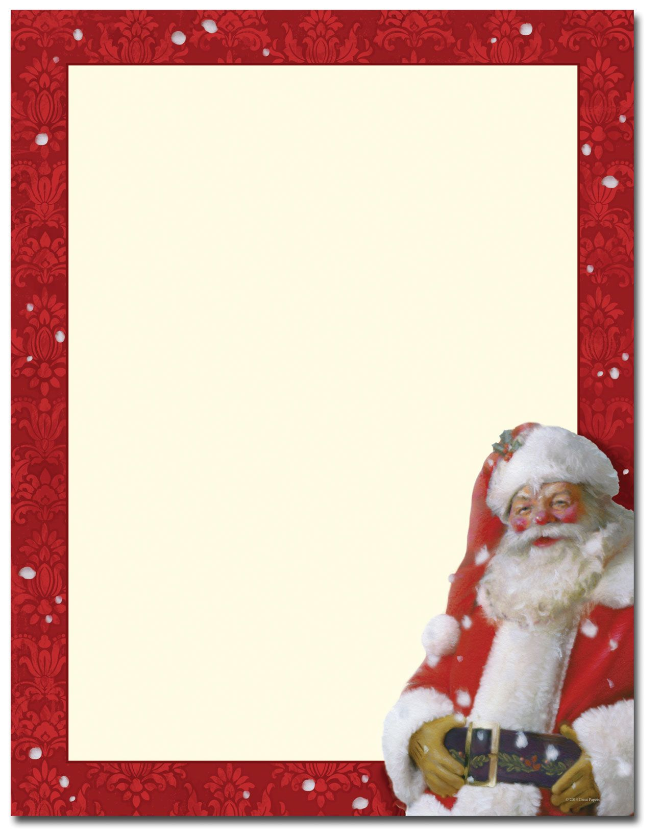 Jolly St Nick Letterhead Christmas stationery printable