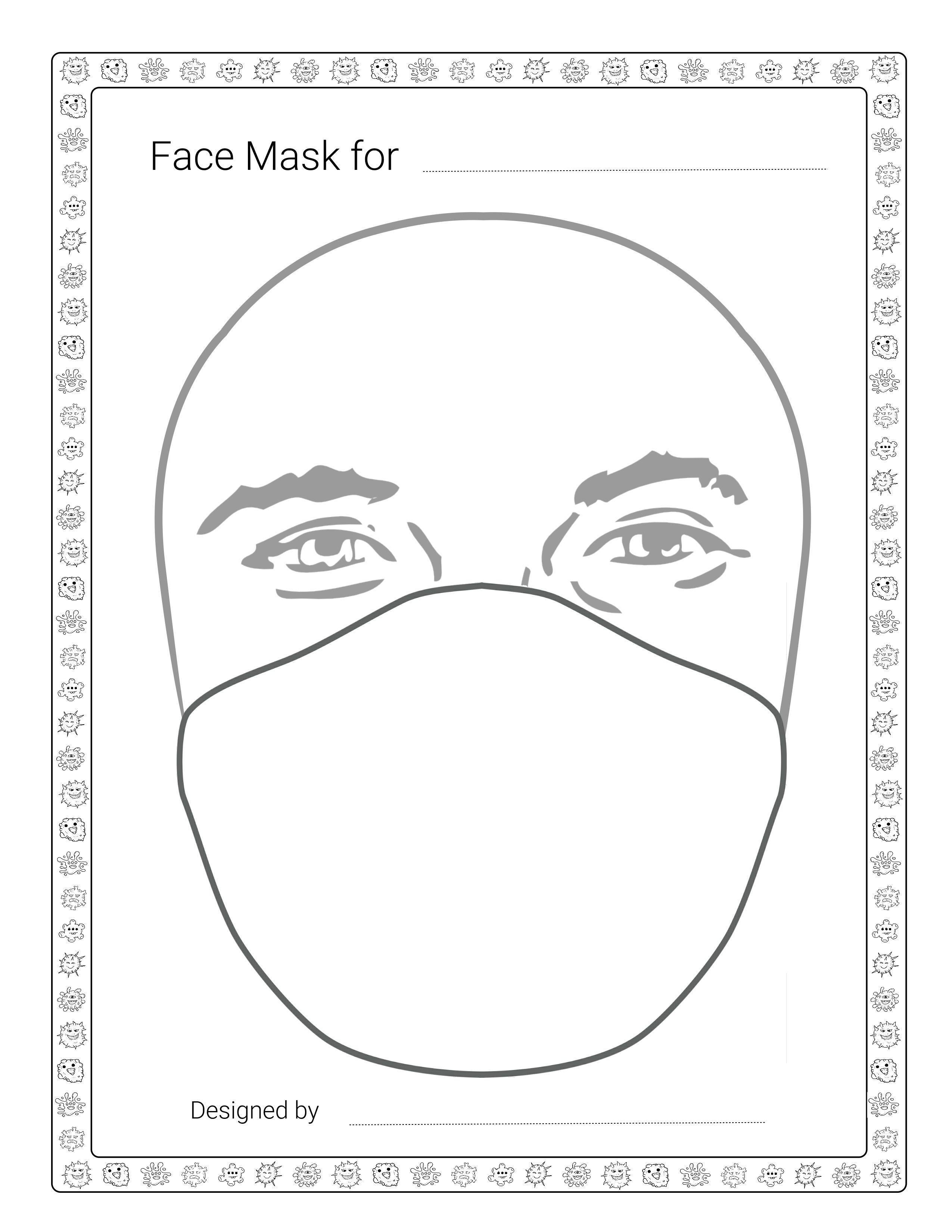 Diy Face Mask Designer Template Male Amp Female Fun Drawing