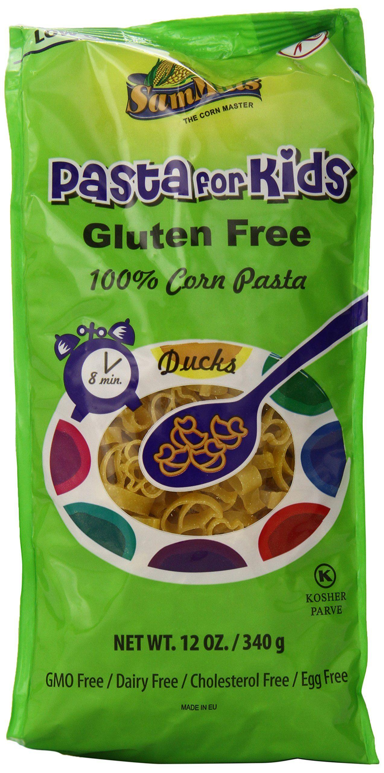 Sam Mills Pasta for Kids, Ducks, Gluten Free, 12-Ounce ...