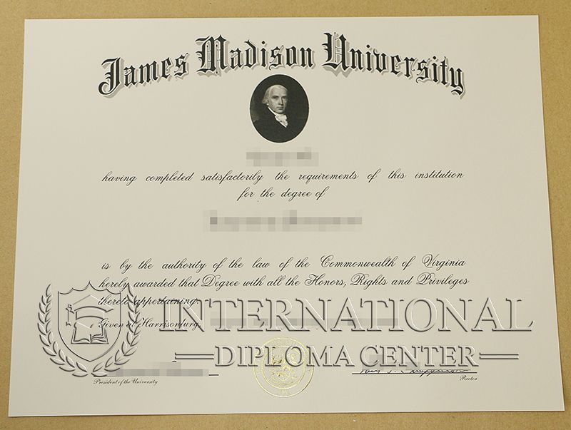 Jmu Diploma James Madison University Degree Certificate Fake