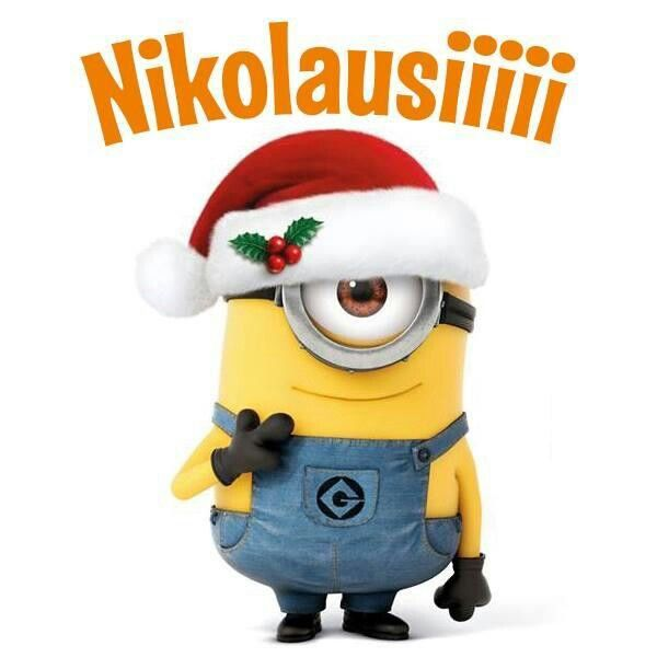 nikolausi minion christmas spr che weihnachten lustig. Black Bedroom Furniture Sets. Home Design Ideas