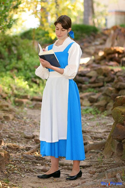 belle blue village dress from disney's beauty and the