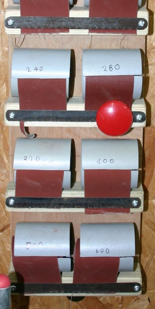 Photo of Flagging which grade is in use by means of a red magnetic button – click to retu…