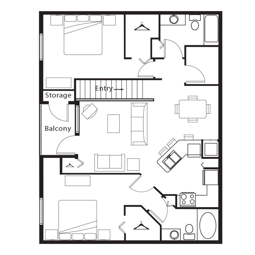 Apartments In Trussville Alabama: 2 Bedroom, 2 Bath 1125 Sf Apartment At Springs At