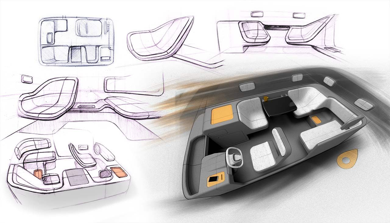 Car Interior Sketch Autonomous Driving Cerca Con Google Interior